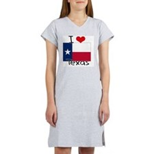 I HEART TEXAS FLAG Women's Nightshirt