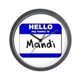 hello my name is mandi  Wall Clock