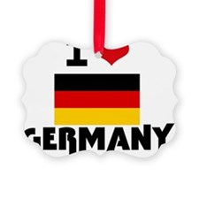 I HEART GERMANY FLAG Ornament