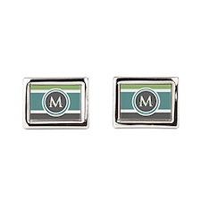 Elegant Modern Monogram Cufflinks