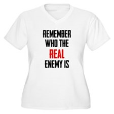 The Real Enemy Plus Size T-Shirt