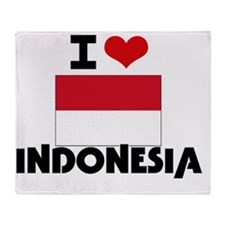 I HEART INDONESIA FLAG Throw Blanket