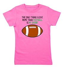 Football Daddy Girl's Tee