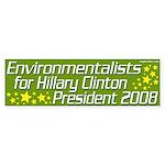 Environmentalists for Hillary Clinton Sticker