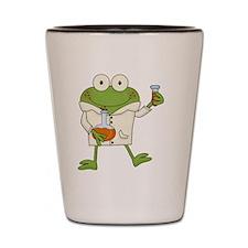 Frog Scientist Shot Glass