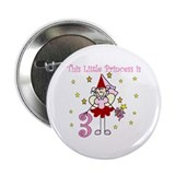 Fairy Princess 3rd Birthday Button