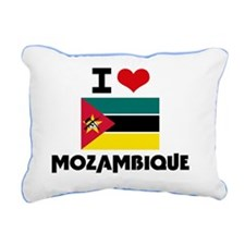 I HEART MOZAMBIQUE FLAG Rectangular Canvas Pillow