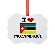 I HEART MOZAMBIQUE FLAG Ornament