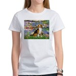 Lilies (#2) - Beagle #7 Women's T-Shirt