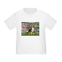 Lilies (#2) - Beagle #7 Toddler T-Shirt