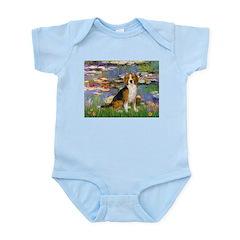 Lilies (#2) - Beagle #7 Infant Bodysuit