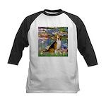 Lilies (#2) - Beagle #7 Kids Baseball Jersey