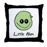 Little Alien Throw Pillow