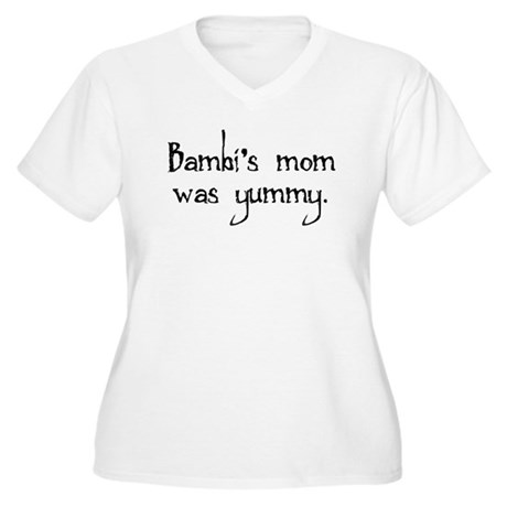 Bambi's Mom Women's Plus Size V-Neck T-Shirt