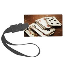 Rustic deck of cards Luggage Tag