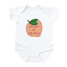Georgia Minded Peach Infant Bodysuit