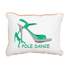 Pole Dance Girl Green Rectangular Canvas Pillow