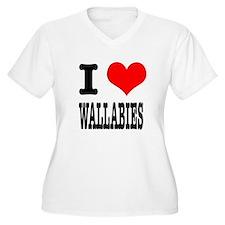 I Heart (Love) Wallabies T-Shirt