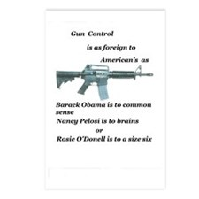 pro 2nd amendment, anti O Postcards (Package of 8)