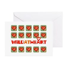 wild at heart Greeting Cards (Pk of 10)
