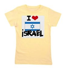 I HEART ISRAEL FLAG Girl's Tee