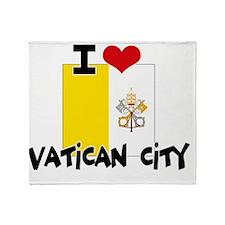I HEART VATICAN CITY FLAG Throw Blanket