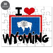 I HEART WYOMING FLAG Puzzle