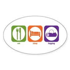 Eat Sleep Logging Oval Decal