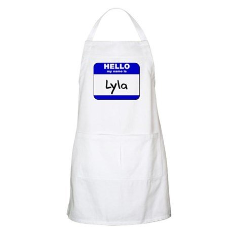 hello my name is lyla BBQ Apron