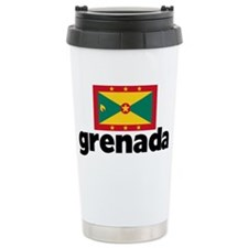 I HEART GRENADA FLAG Travel Mug