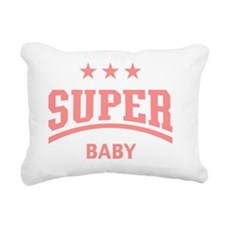 Super Baby (Pink) Rectangular Canvas Pillow