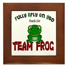 team frog Framed Tile