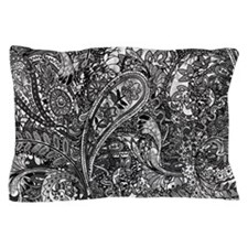 Extra Wild Paisley B/W Pillow Case