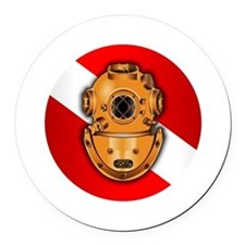 Key West Marine Salvage Round Car Magnet