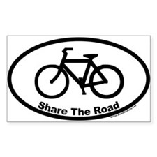 Share The Road Euro Oval Decal with Bike Decal