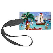 Christmas Boat Parade Luggage Tag