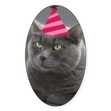 Russian Blue Birthday Card Decal
