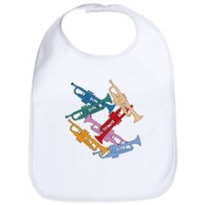 Colorful Trumpets Bib