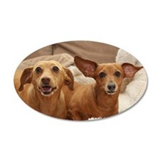 Dachshund Birthday Card Wall Decal