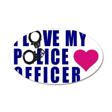 I love my Police Officer 35x21 Oval Wall Decal