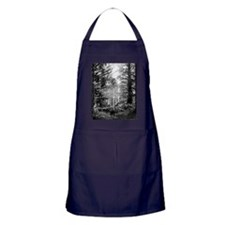 Black and White Forest Apron (dark)
