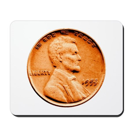1955 Double Die Lincoln Cent Mousepad