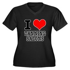 I Heart (Love) Tanning Salons Women's Plus Size V-