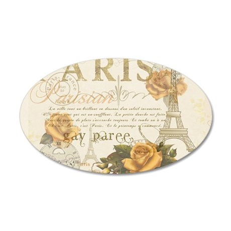 Vintage Paris 35x21 Oval Wall Decal