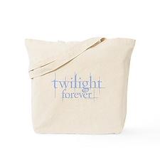 Twilight Forever Logo Light Blue Tote Bag