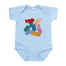 Colorful Tubas Infant Bodysuit
