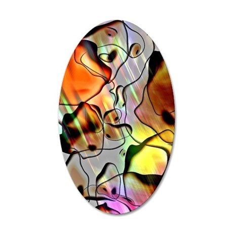 Eerie Abstract Flipped 35x21 Oval Wall Decal
