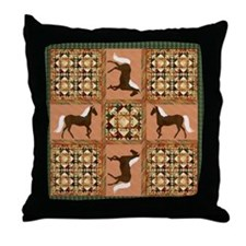 Gaited Horse Throw Pillow