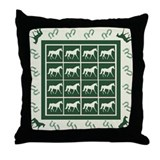 Grn FX Trotter Throw Pillow