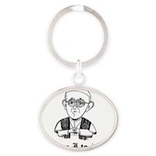 Who am I to judge Oval Keychain